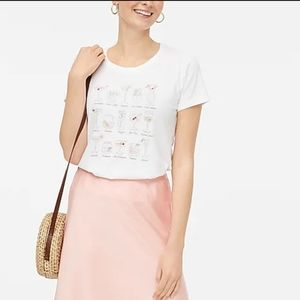 ⭐ NWT Cocktail J Crew Graphic Tee